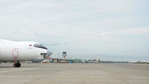 Malabo airport: parking and taxiway